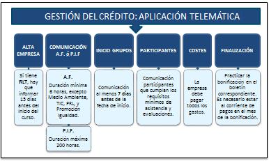 gestion del credito a través de la aplicacion telematica de Fundae
