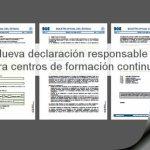 Nueva declaración responsable para entidades de formación
