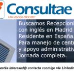 Servicio de recepcionistas: Recepcionista con inglés para servicio en Madrid