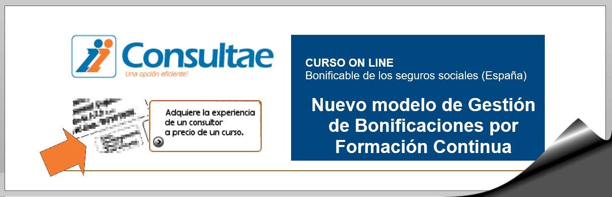 Curso online Nuevo modelo de Gestión de Bonificaciones por Formación Continua