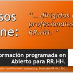 Formación programada en Abierto para RR.HH. ( Próximos Cursos )
