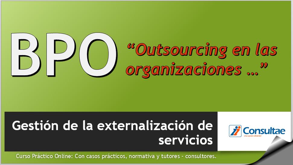 curso online Gestión de la externalización de servicios