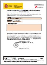Certificado Seguridad Social Corriente de pago