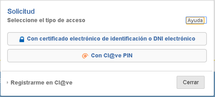 Solicitud certificado corriente de pago con certificado digital o Cl@ve PIN