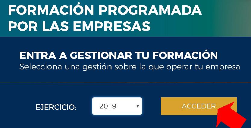 Acceso a la aplicación 2019 de Fundae