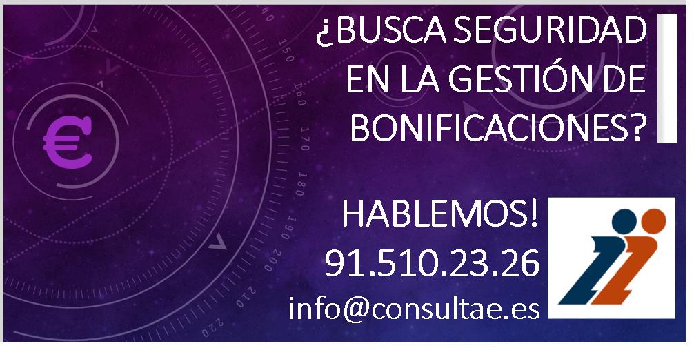 Servicio de gestión de bonificaciones 2019