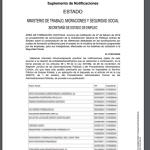 Comunicación en el BOE de las diferencias detectadas en bonificaciones