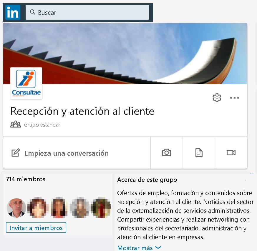 Grupo recepcionistas Madris
