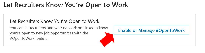 Activar Linkedin Opentowork