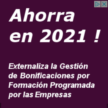 Bonificación formación continua 2021
