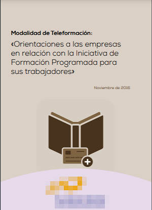 Modalidad de Teleformación: «Orientaciones a las empresas en relación con la Iniciativa de Formación Programada para sus trabajadores